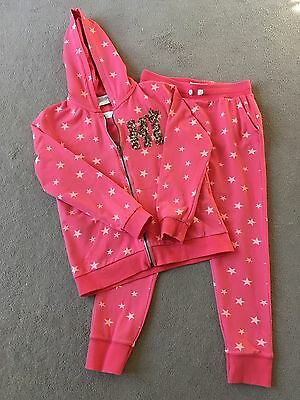 Zara Girls Stars Matching Hooded Top and Jogging Bottoms Age 11-12 Years