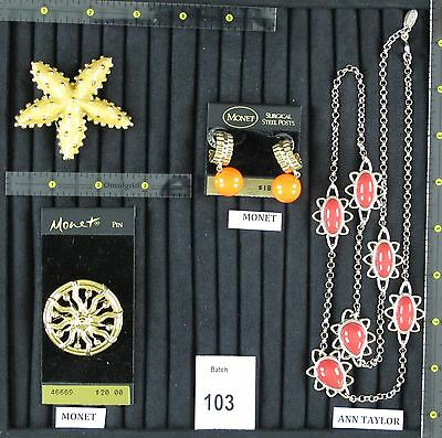 New-Pre-Owned Designer Signed Jewelry: Monet, Ann Taylor Necklace, summer colors