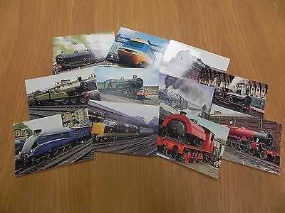 Job Lot Postcards of Steam and Electric Trains.