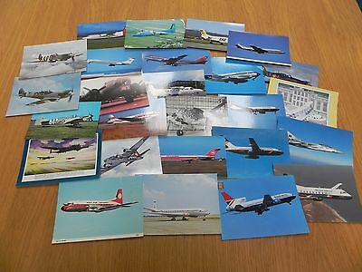 Job Lot Commercial and Military Aircraft Postcards