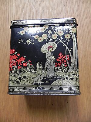 Vintage Tea Caddy With Japanese Design Twinings?