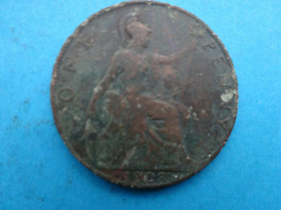 British Coin:  1903   One Penny    Edward Vii