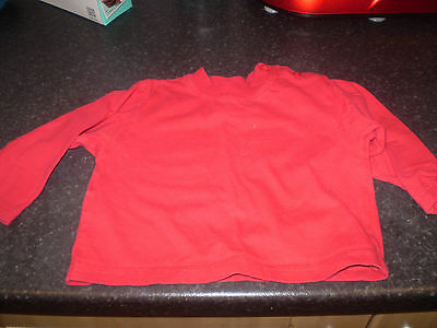 Ladybird red top Size 6-12 mths