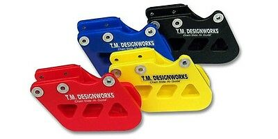 T.M. Designworks Blue Factory Edition 1 Chain Guide for Yamaha YZ250 1996-2007