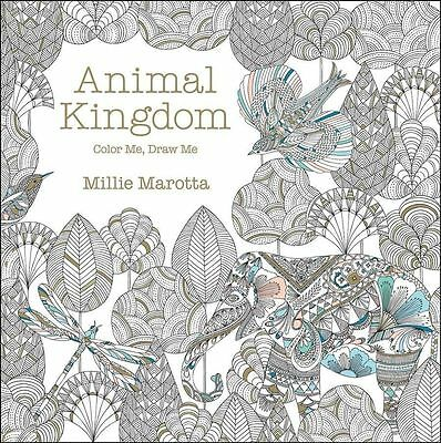Animal Kingdom Adult Coloring Book Adventure - Stress Relief - NEW