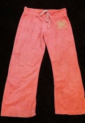 Genuine Juicy Couture Tracksuit Bottoms in Peachy Coral  Age 10 Used