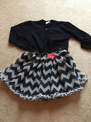 Girls Party Outfit Skirt And Cardigan Age 5 To 6 ��