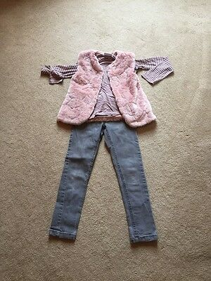 Girls Outfit Age 8 Mayoral Gillet And Next Jeans And Top ��