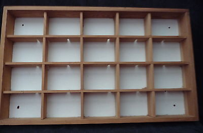 large display case models printer tray cars toys wall mounted table top drawer