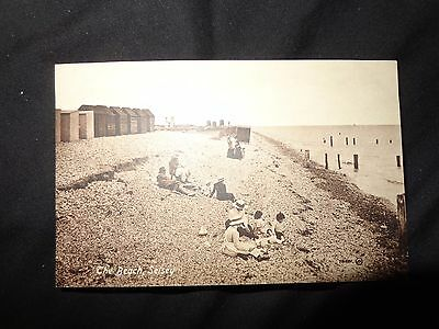 Postcard early The  Beach   SELSEY Valentines family children c1910