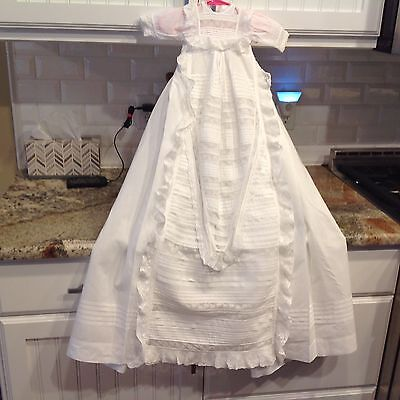Nice! Antique Victorian Baby Doll Christening Gown Dress