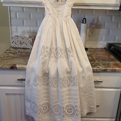 Darling Antique Victorian Baby Christening Gown Dress