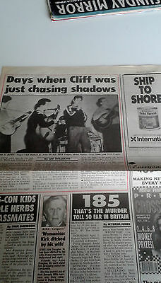 Cliff Richard - Article From The People April 11 1993