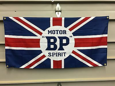 Motor BP Spirt Banner Flag - mini jaguar austin martin land rover bentley  lotus