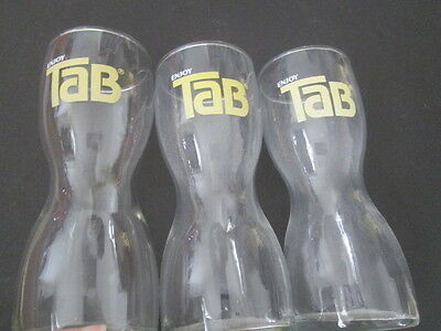Tab Drinking Glasses  (3)  from the 1960's
