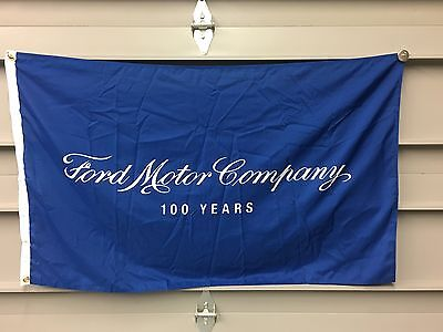Ford 100 Year Dealer Banner Flag - Henry Ford Mustang GT Shelby Cobra RS GT40 v8