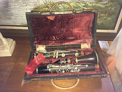 Vintage Clarinet A. Fontaine RARE Made in ITALY Musical Instrument Antique