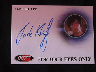 James Bond For Your Eyes Only Signed Card A219 Jack Klaff as Apostis *WOW*