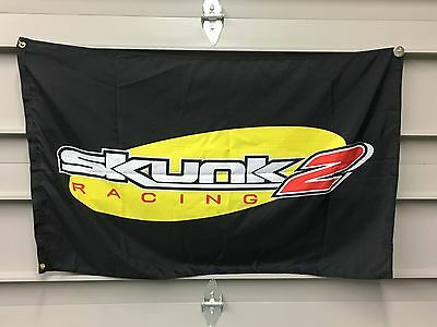 Skunk 2 Banner Flag - jdm racing drift drag rally turbo rr sir civic nhra tuner