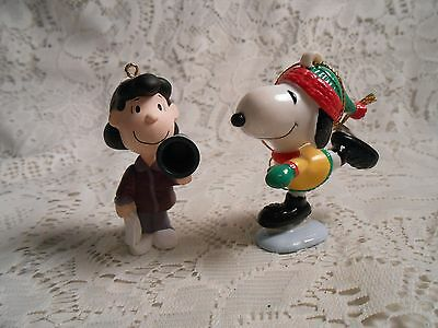 Peanuts Christmas Ornaments Hallmark & United Feature Syndicates Snoopy & Lucy