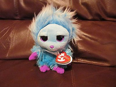 Ty Frizzys Mops (BLUE) 6 Inches Plush With Heart Tag  (NEW)