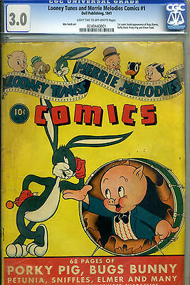 Looney Tunes and Merrie Melodies Comics #1 CGC 3.0 Universal 1941  Bugs Bunny,