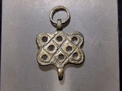 Beautiful Medieval Silver Earring - Top Decoration !!!
