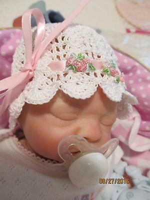 Lovely Hand Crocheted Baby Doll BONNET & SHOES for Reborns & All Babies ~ Unused