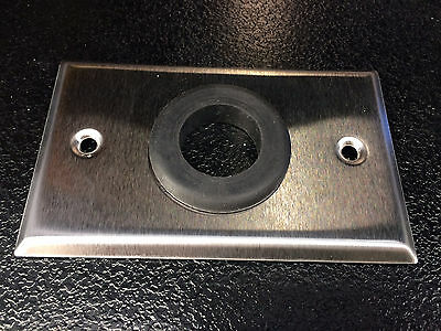 Lot of (9) Grommet Wall Plate Semtron Single 1-Gang Stainless