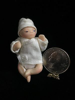 EXTREMELY RARE Maree Massey Miniature Newborn Doll Gifted OOAK Note Included