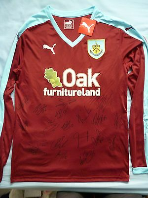 Burnley FC Signed Shirt x19 - Turf Moor, Football Autograph, Andre Gray, Boyd