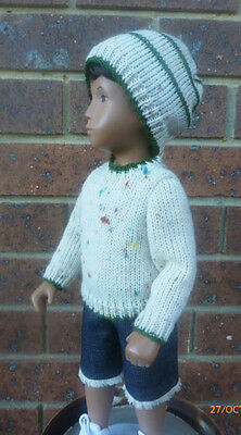 Gregor's Creme Flecked Knitted Sweater And  Hat