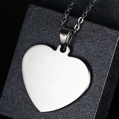 Love Heart Pendant Stainless Steel Necklace Women's Engagement Fashion Jewellery