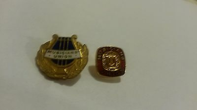2 Musician Uion Tie Pin Badges