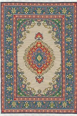 "Dollhouse Miniature Beautiful Woven Turkish Rug 4"" x 5"" ~ S110-25  NEW"