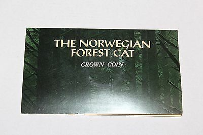 The 1991 Norwegian Forest Cat Crown Coin Uncirculated w / Presentation Folder