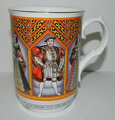 Sadler England Bone China Wellington Henry Viii & Wives Mug / Cup, Exc Condition