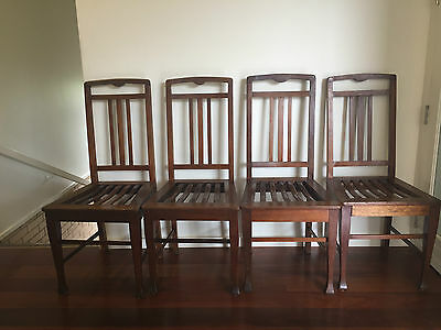 Vintage/Antique Blackwood Dining Chairs x4