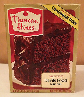 Vintage Duncan Hines Cake Mix Box - Vintage Food packaging