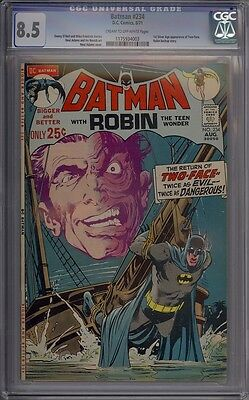 Batman #234 - CGC Graded 8.5 - 1st Silver Age Two-Face