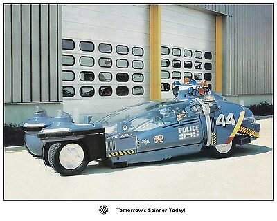 Blade Runner EXTREMELY RARE Photo of the Spinner #44 in Europe with VW emblem