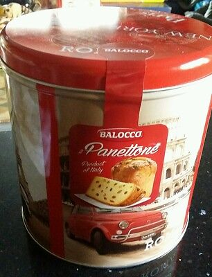 Balocco Panettone Italian Oven Baked Cake and collectors tin. Christmas present