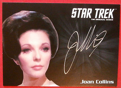 STAR TREK TOS 50th JOAN COLLINS, VERY LIMITED Autograph Card