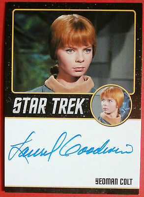 STAR TREK TOS 50th, LAUREL GOODWIN as Yeoman Colt, VERY LIMITED Autograph Card