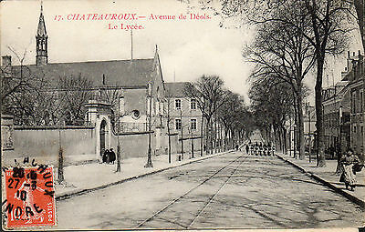 Cpa France 1910 - Chateauroux, Avenue Deols, Le Lycee -