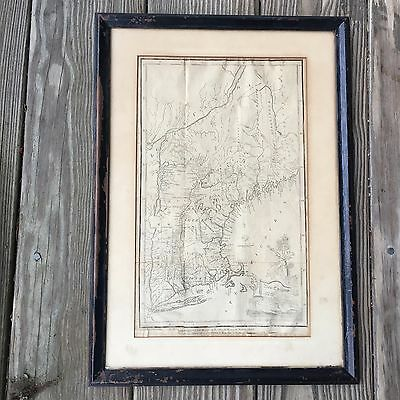 Map 1809 New England detailed Vt NH Me Mass by morse Vintage