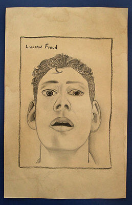 Lucian Freud Drawing-On-Original-Paper -------