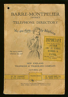 Barre-Montpelier District Telephone Directory - October 1955