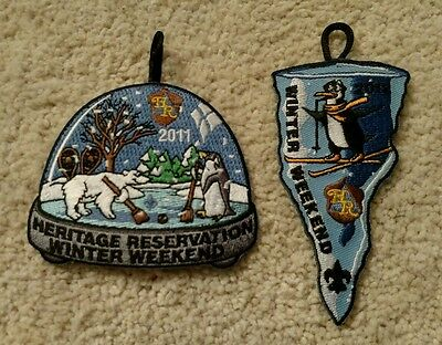 2011 Heritage Reservation Winter Weekend Boy Scouts Laurel Highlands Patches