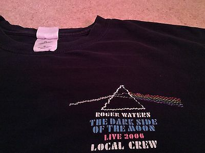Roger Waters 2006 Dark Side Of The Moon Concert Tour Local Crew Black T-Shirt XL